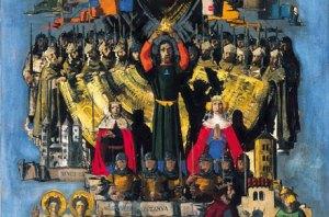 Aba-Novák Vilmos: Szent István felajánlja a koronát Szűz Máriának